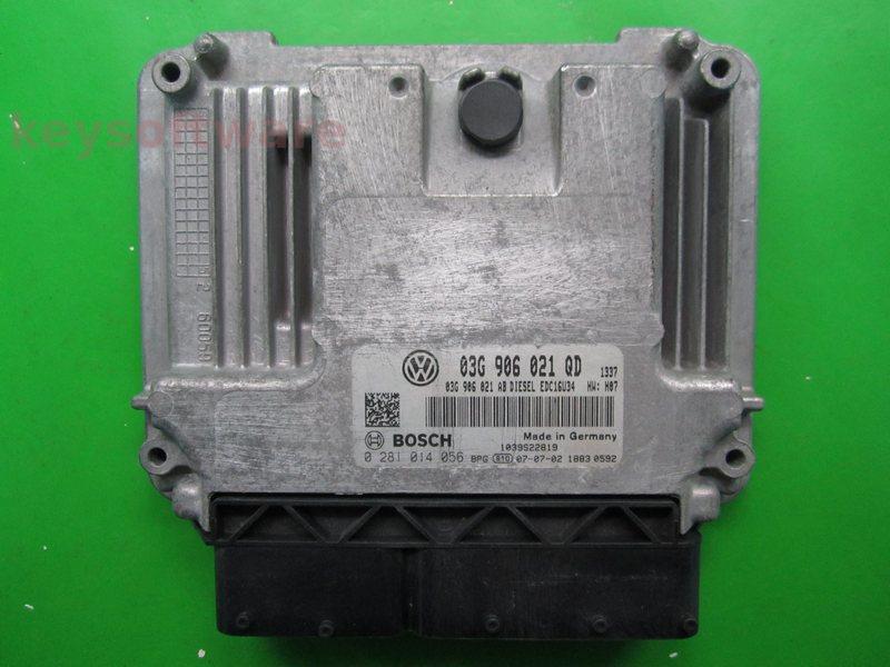 ECU VW Golf5 2.0TDI 03G906021QD 02810134056 EDC16U34 {