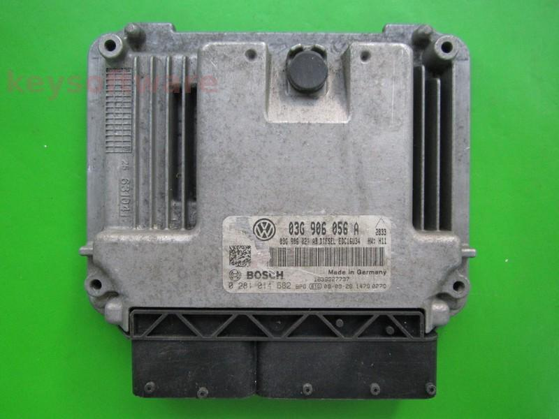 ECU VW Touran 1.9TDI 03G906056A 0281014682 EDC16U34 {