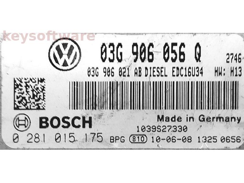 ECU VW Caddy 1.9TDI 03G906056Q 0281015175 EDC16U34 {
