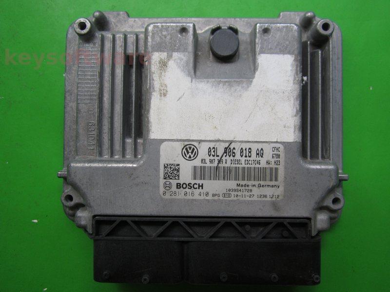 ECU VW Scirocco 2.0TDI 03L906018AQ 0281016410 EDC17C46 {