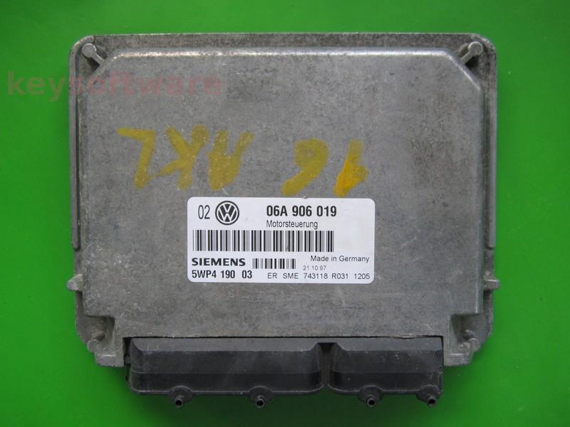 ECU VW Golf4 1.6 06A906019 5WP4190 SIMOS 2.1B AKL