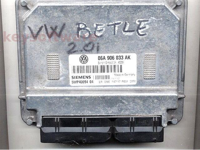ECU VW Beetle 1.6 06A906033AK 5WP40094 SIMOS 3.3A