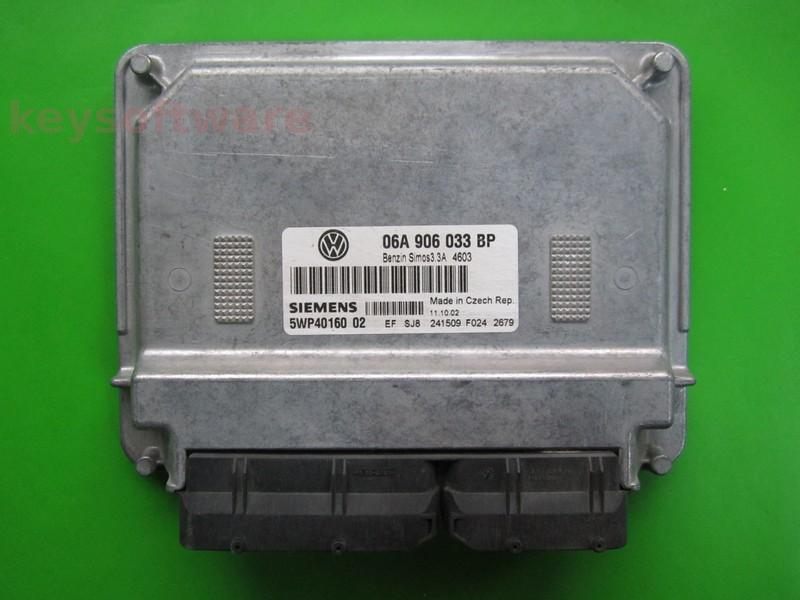 ECU VW Beetle 1.6 06A906033BP 5WP40160 SIMOS 3.3A BFS