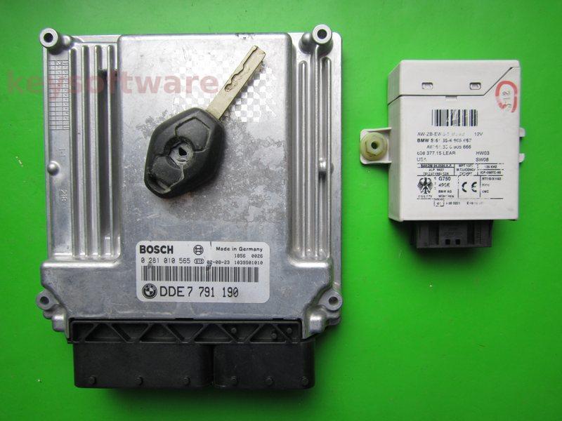 KIT Bmw 320D DDE7791190 0281010565 EDC16C1 E46