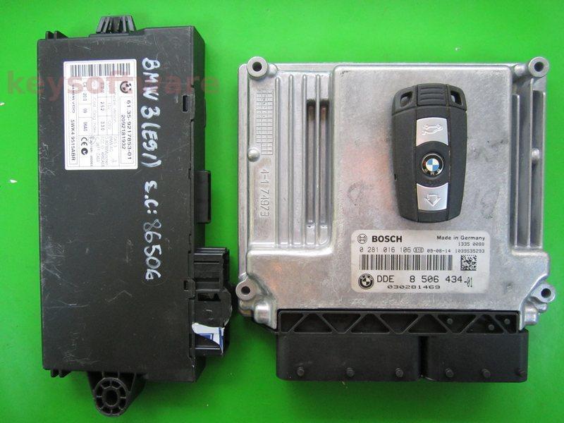 KIT Bmw 120D DDE8506434 0281016106 EDC17C06 E87
