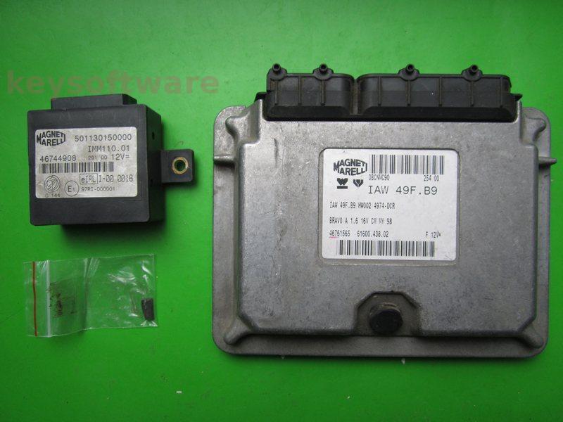 KIT Fiat Bravo 1.6 46761565 6160043802 IAW 49F.B9
