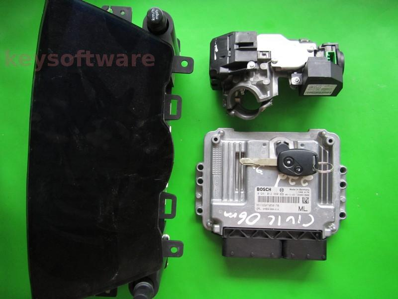KIT Honda Civic 2.2CDTI 37820-RSR-E13 0281012660 EDC16C7