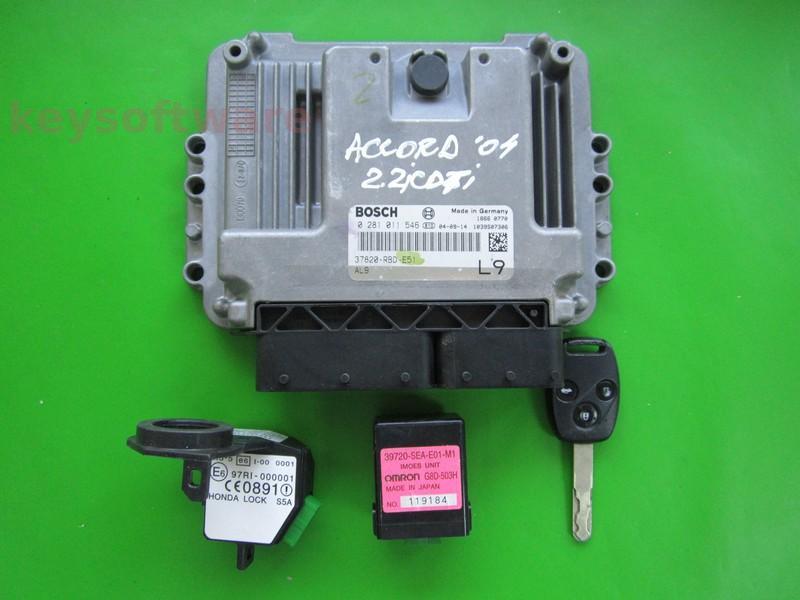 KIT Honda Accord 2.2CTDI 37820-RBD-E51 0281011546 EDC15C7
