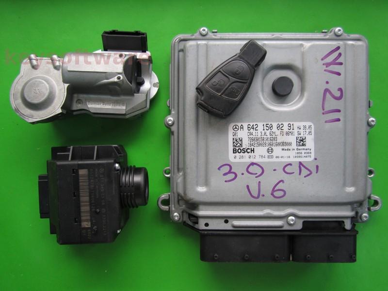 KIT Mercedes E 3.0CDI A6421500291 0281012784 EDC16CP31 W211