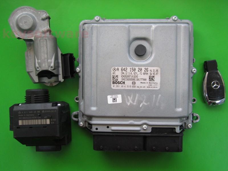 KIT Mercedes E320 3.2CDI 0281014916 EDC16CP31 CRD3.10 W211