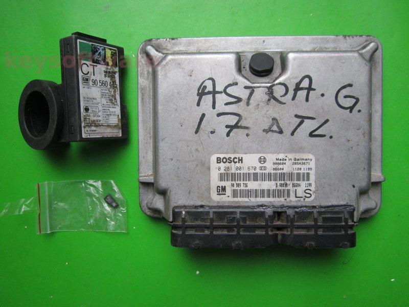 KIT Opel Astra G 1.7DTI 0281001670 EDC15M1