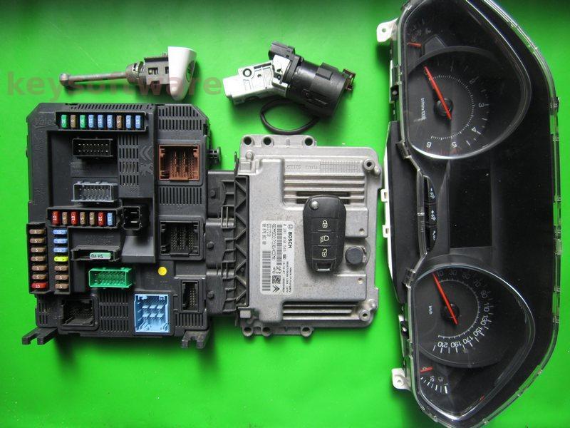 KIT Peugeot 208 1.4HDI 9807886180 0281030545 EDC17C10