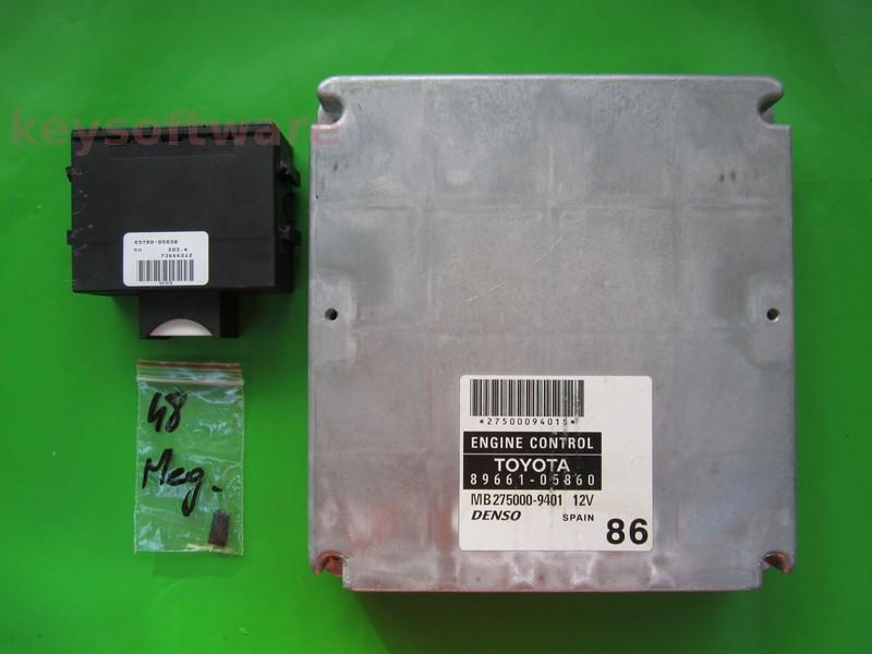 KIT Toyota Avensis 1.8 89661-05860 MB275000-9401