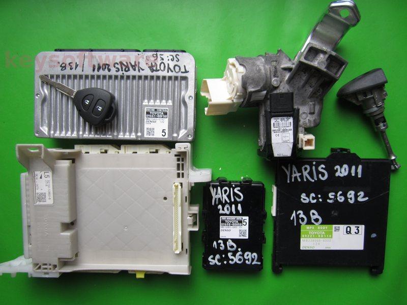 KIT Toyota Yaris 1.3 89661-0DF50 MB275400-5792