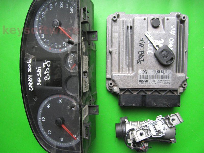 KIT VW Caddy 2.0SDI 0281011617 EDC16U1 BDK