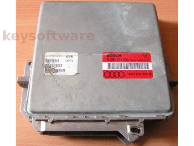 ECU Audi 100 2.5TDI 443907401A 0281001092 EDC1.2.4 {