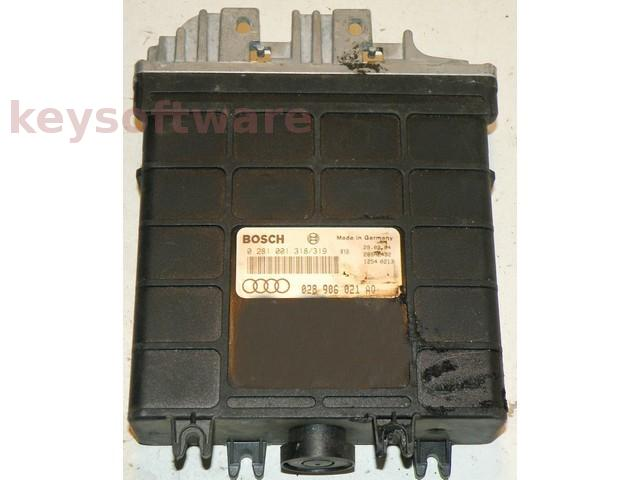ECU Audi 80 1.9TDI 028906021AQ 0281001318 EDC1.3.3 {