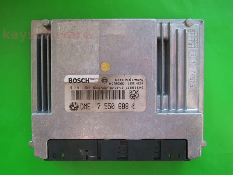ECU Bmw 116 DME7550688 0261209036 ME9.2