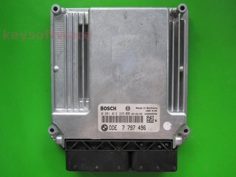 ECU Bmw 120D DDE7797496 0281012335 EDC16C35-2.12 E87 } +