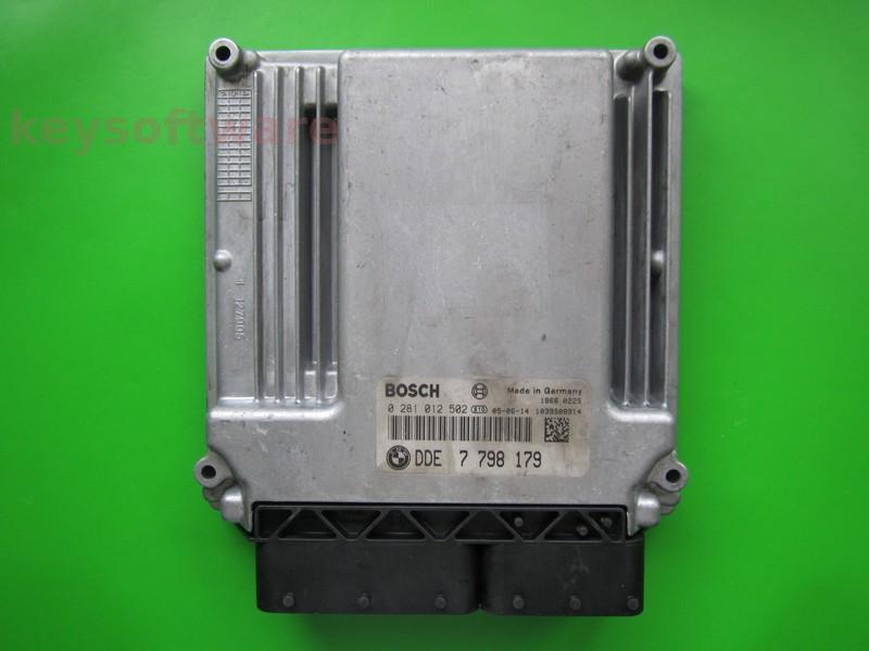 ECU Bmw 118D DDE7798179 0281012502 EDC16C35-2.12 E90 { +