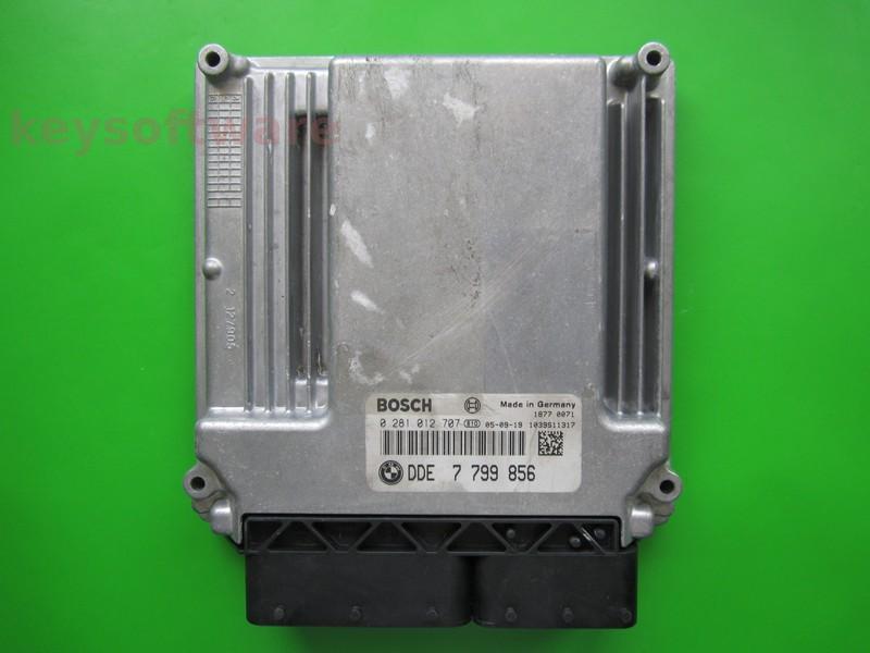 ECU Bmw 530D DDE7799856 0281012707 EDC16CP35 E60 {