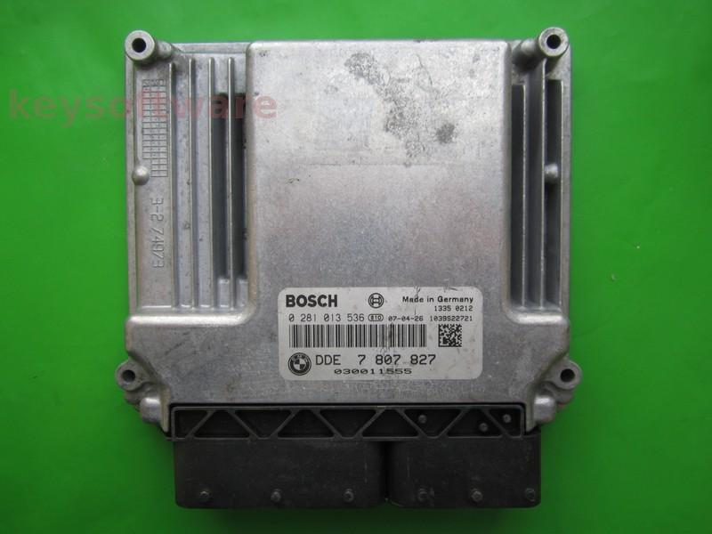 ECU Bmw 320D DDE7807827 0281013536 EDC17CP02 E90