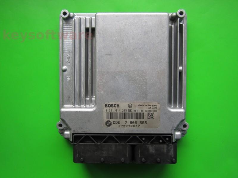 ECU Bmw X5 3.0D DDE7805585 0281014205 EDC16CP35 +