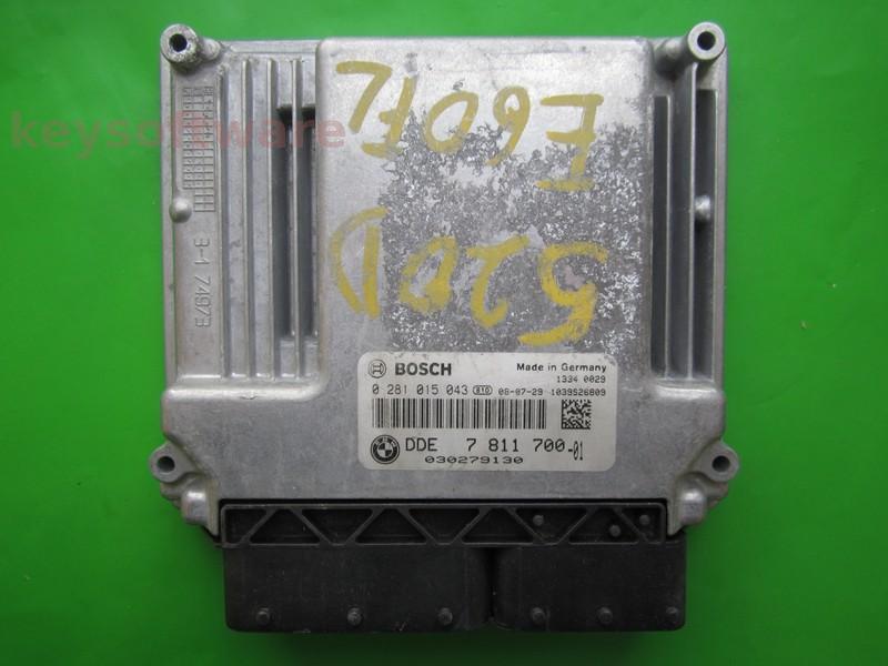 ECU Bmw 320D DDE7811700 0281015043 EDC17CP02 E90^
