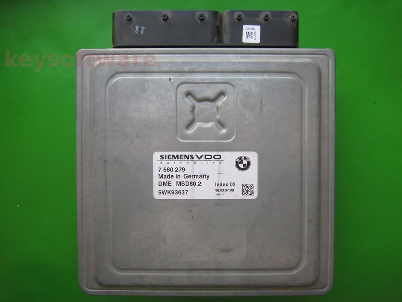 ECU Bmw 118 7580279 5WK93637 MSD80.2 E87