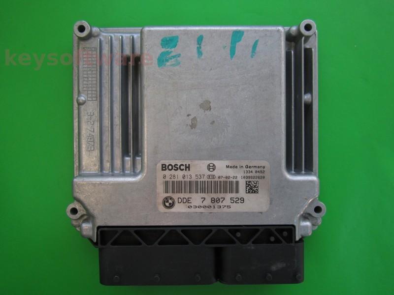 ECU Bmw 118D DDE7807529 0281013537 EDC17C06