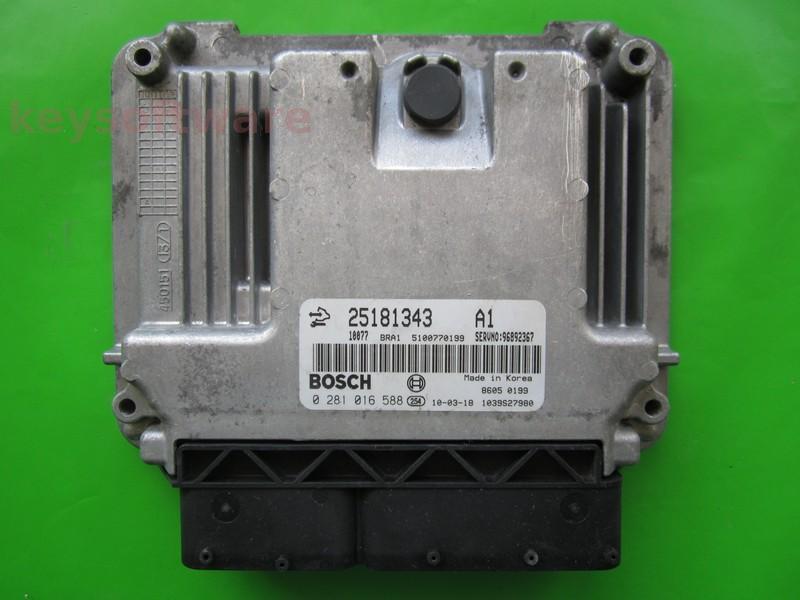 ECU Chevrolet Captiva 2.0CDTI 25181343 0281016588 EDC16C39