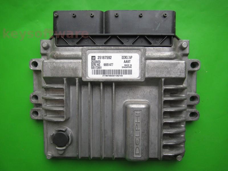 ECU Chevrolet Captiva 2.2CDTI 25187592 96951477 DCM3.7AP