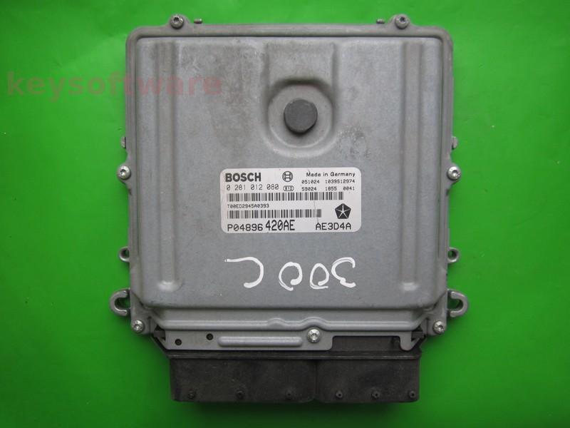 ECU Chrysler 300C 3.0CRD P04896420AE 0281012080 EDC16CP31