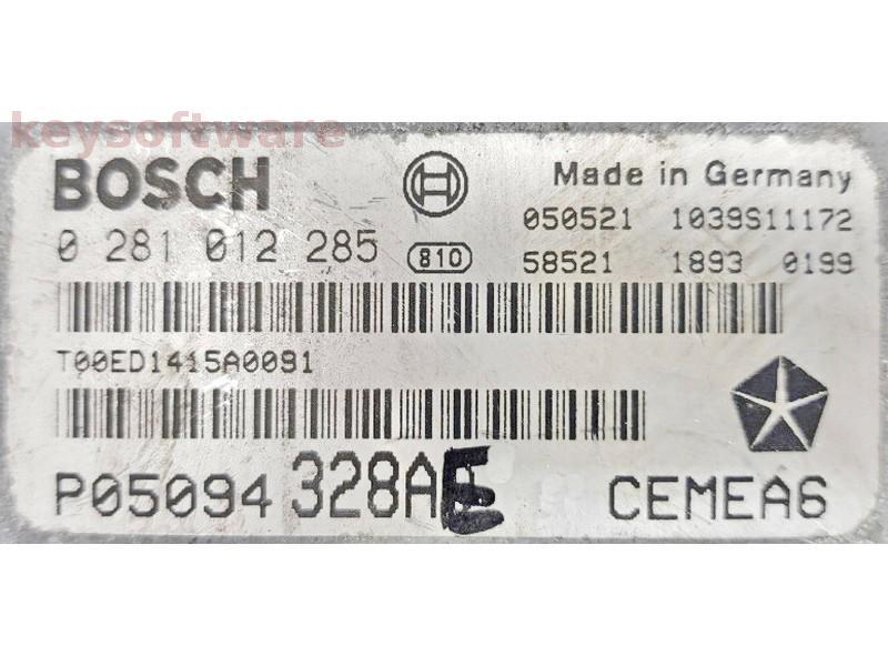ECU Chrysler Grand Cherokee 3.0CRD P05094328AE 0281012285