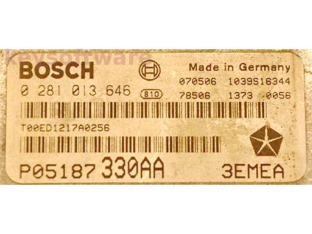 ECU Chrysler Commander 3.0CRD P05187330AA 0281013646 EDC16CP31 {