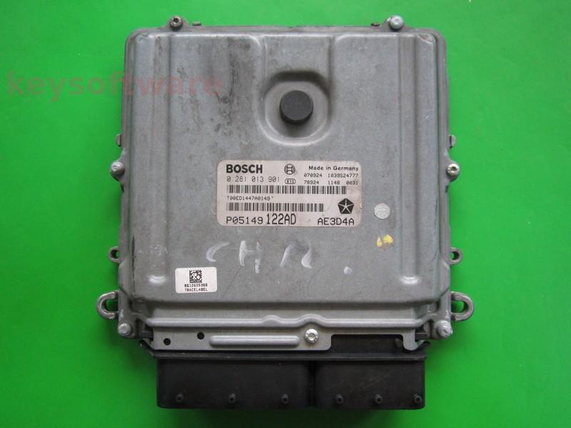 ECU Chrysler 300C 3.0CRD P05149122AD 0281013901 EDC16CP31