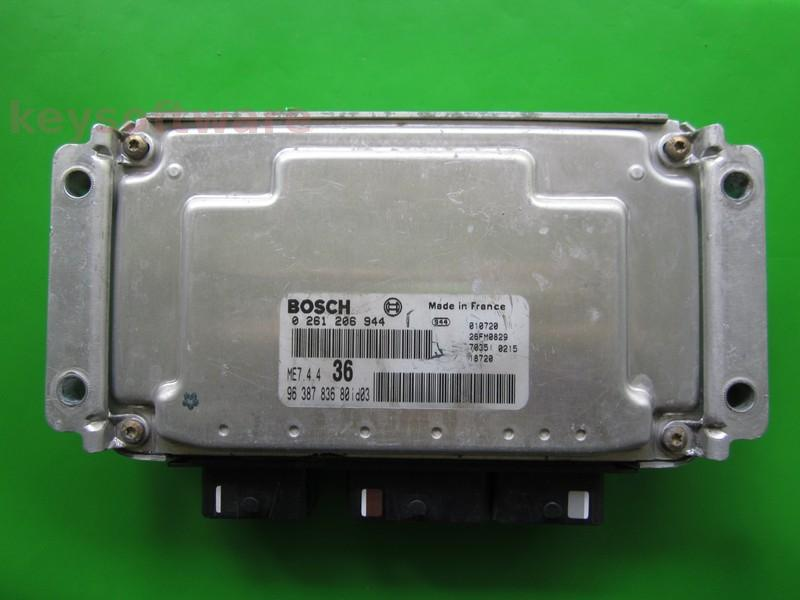 ECU Citroen Berlingo 1.6 9638783680 0261206944 ME7.4.4 NFU {+