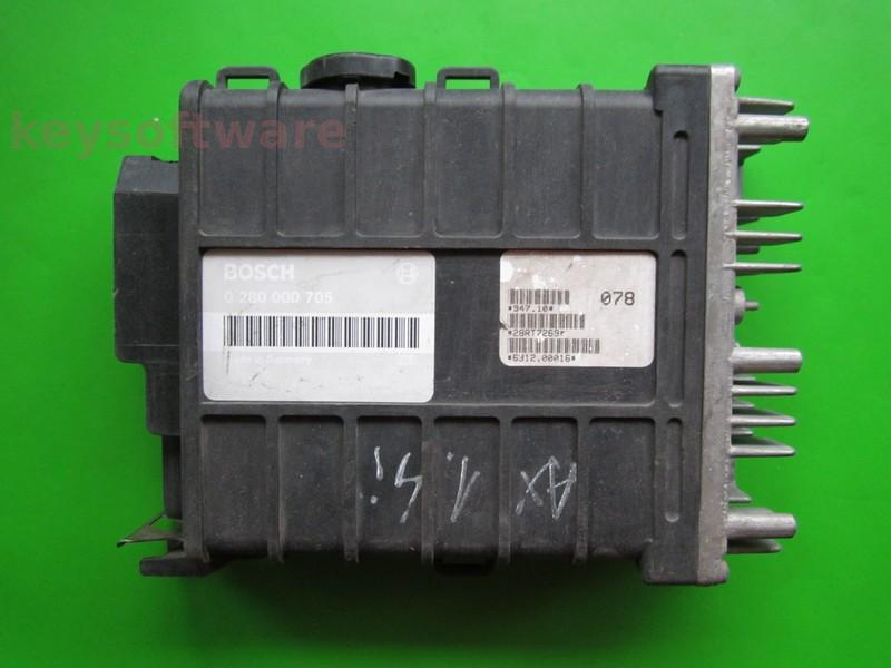 ECU Citroen AX 1.4 28RT7269 0280000705