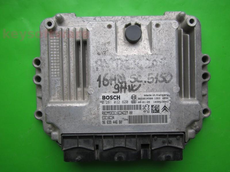ECU Citroen Berlingo 1.6HDI 9663944680 0281012620 EDC16C34 9HW }
