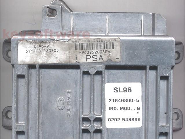 ECU Citroen Berlingo 1.4 9632520380 21649800 SL96