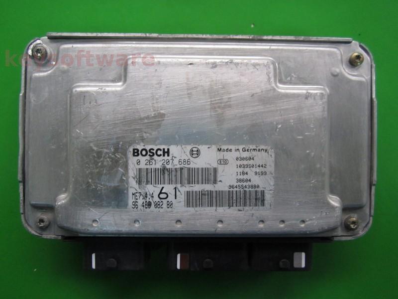 ECU Citroen Berlingo 1.6 9648608280 0261207686 ME7.4.4