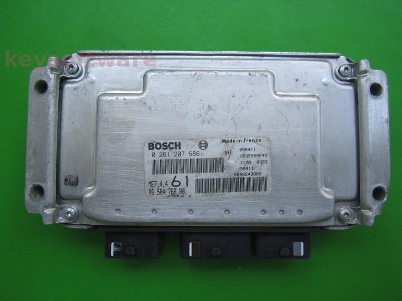 ECU Citroen Berlingo 1.4 9658476880 0261207686 ME7.4.4
