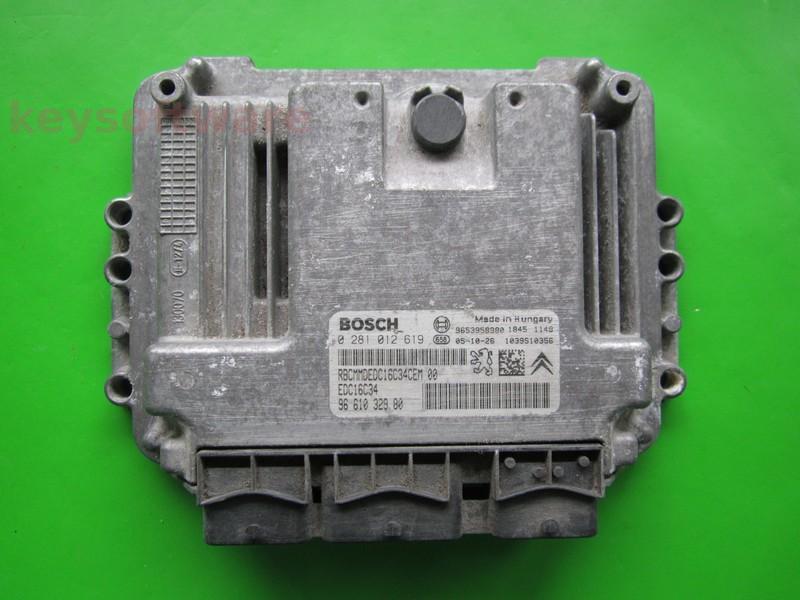 ECU Citroen Berlingo 1.6HDI 9661032980 0281012619 EDC16C34 9HX