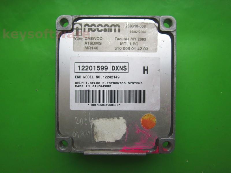 ECU Daewoo Lanos 1.4 12201599 DXNS MR140