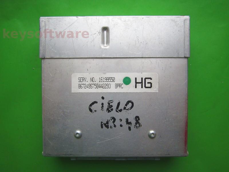 ECU Daewoo Cielo 1.5 16199550 BPRC HG bleu