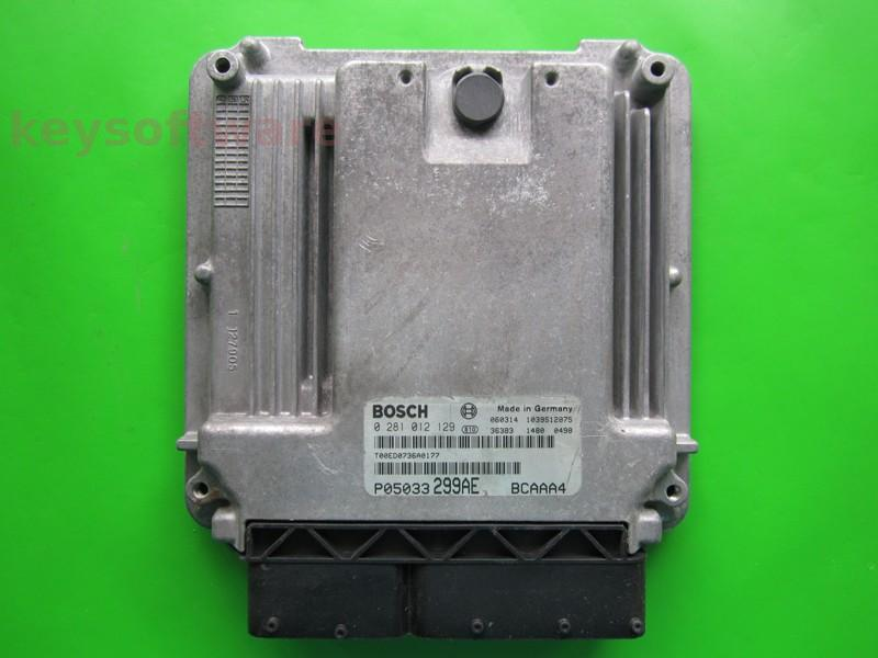 ECU Dodge Caliber 2.0CRD P05033299AE 0281012129 EDC16U31 }