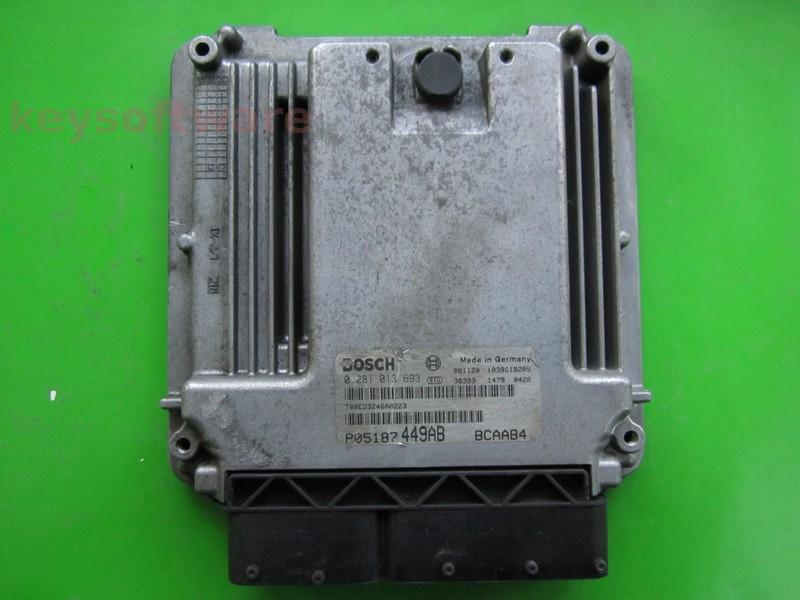 ECU Dodge Caliber 2.0CRD P05187449AB 0281013693 EDC16U31 +