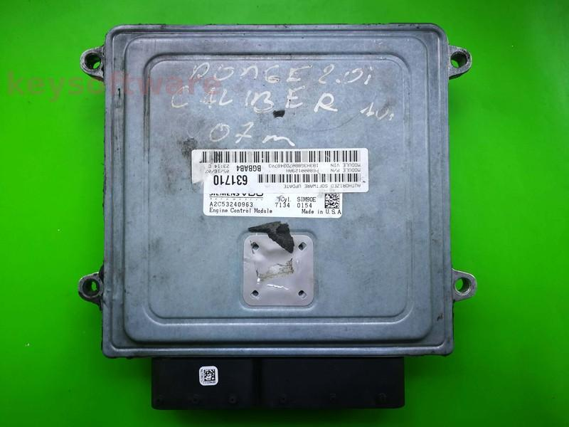 ECU Dodge Caliber 2.0 P68000129AH A2C53240963 SIM90E