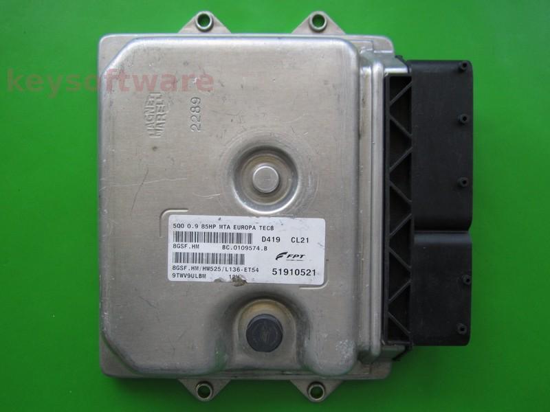 ECU Fiat 500 0.9 51910521 8GSF.HM