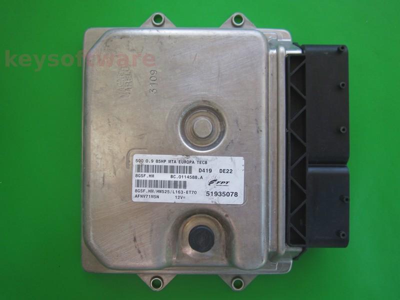 ECU Fiat 500 0.9 51935078 8GSF.HM